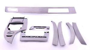 BMW-5-Serie-E60-E61-Set-Deko-Baender-Armaturenbrett-Innenverkleidung-Alu-Cube-Pure