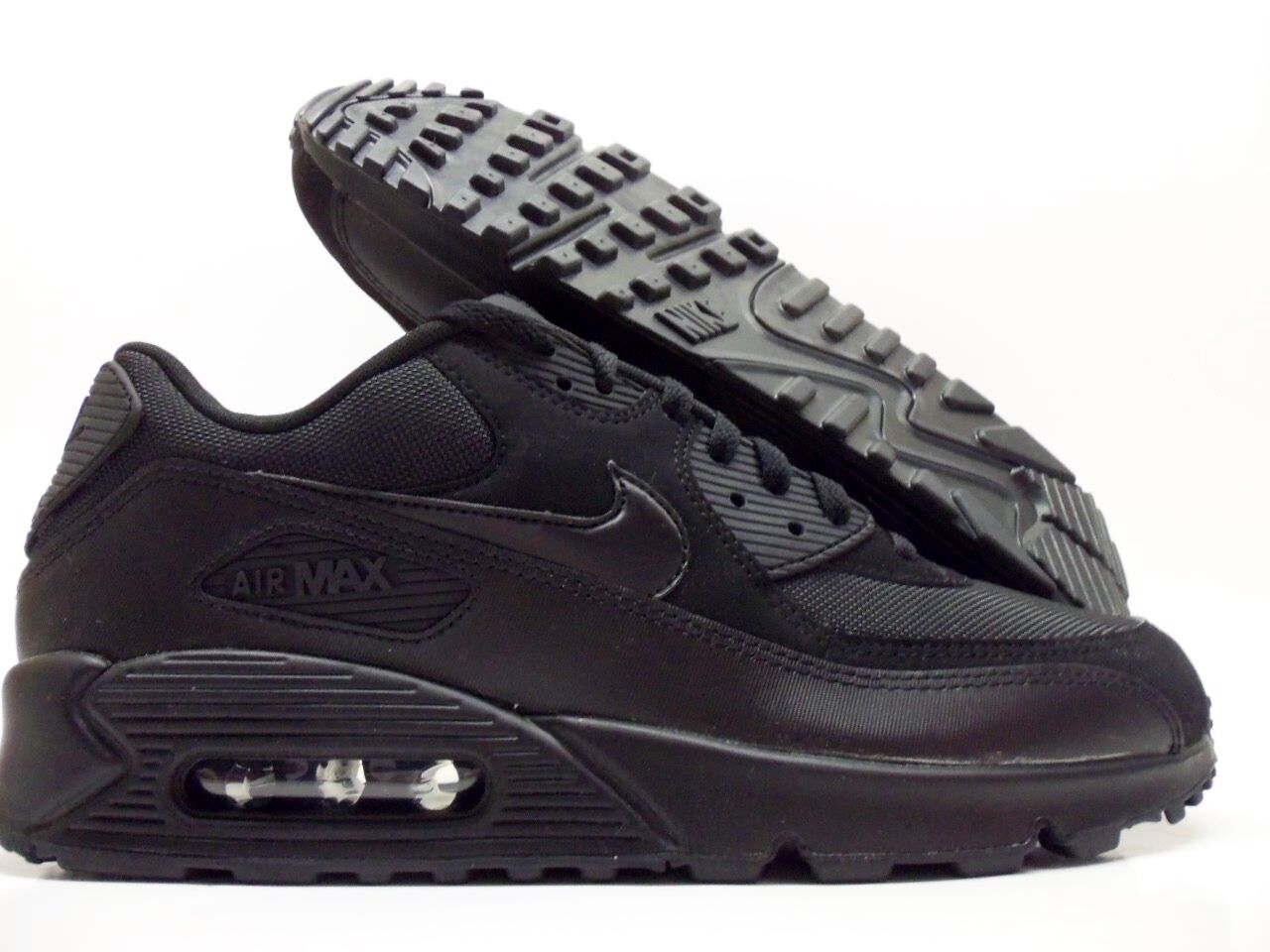 450a07384e88 durable service NIKE AIR MAX 90 ESSENTIAL RUNNING SHOE BLACK BLACK SIZE  MEN S 12