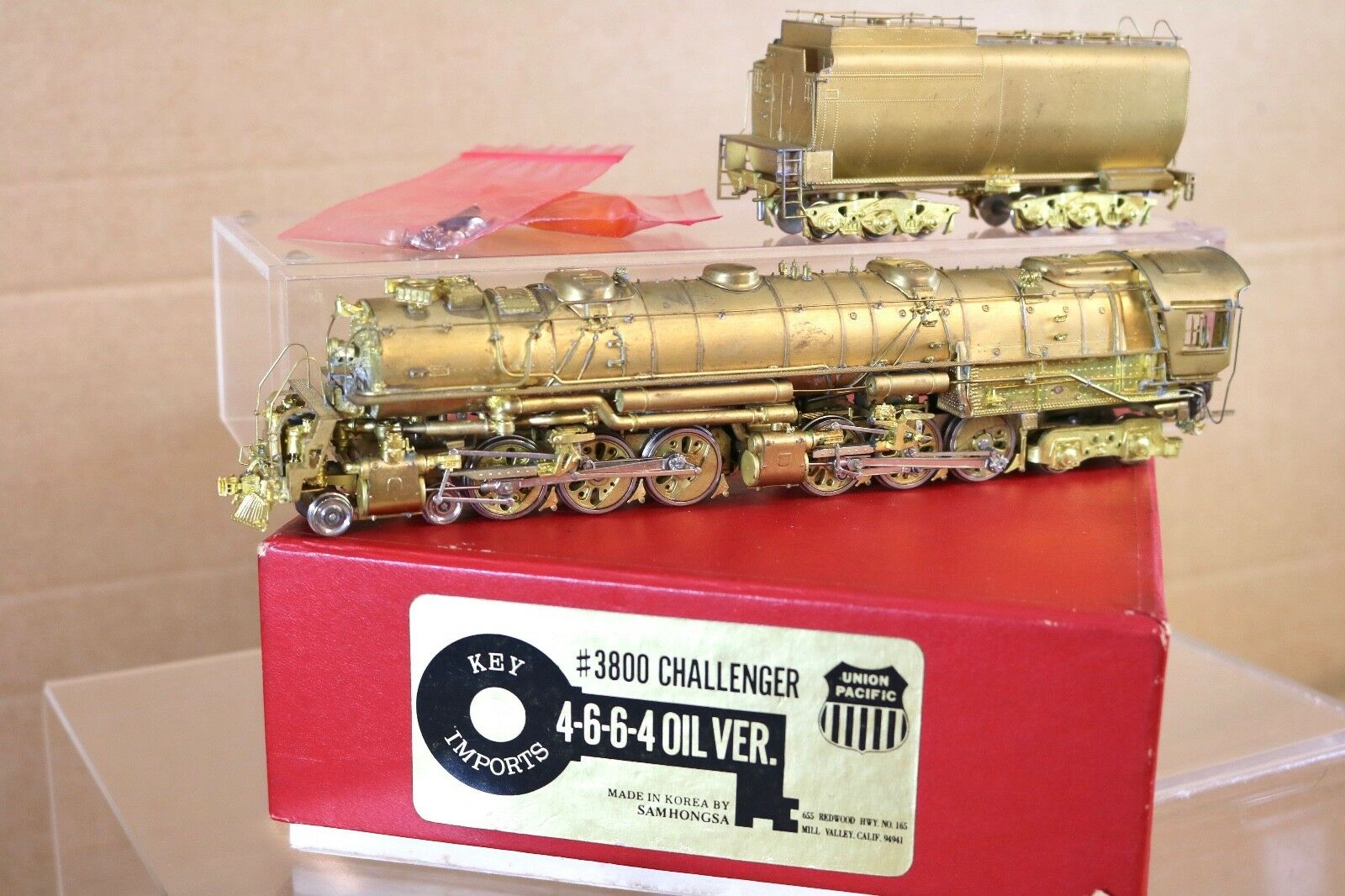 KEY IMPORTS BRASS UNION PACIFIC UP 4-6-6-4 OIL VERSION 3800 CHALLENGER LOCO np