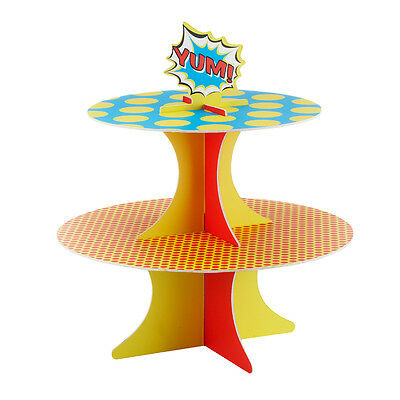 Superhero Childrens Birthday Party Cupcake Cake Stand!!