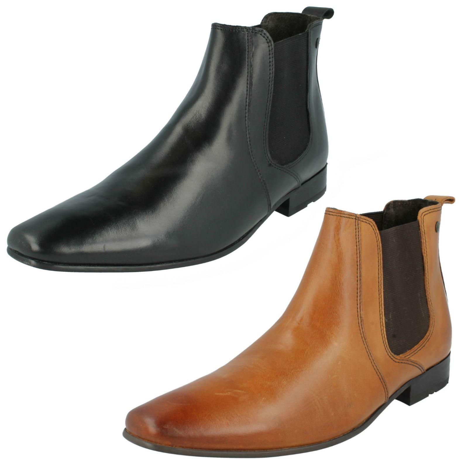 Herren Base London Hellbraun / schwarz Leather Stiefel Arthur