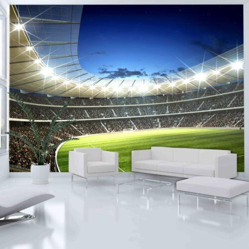 FOTOTAPETE SPORT STADION FUßBALL VLIES TAPETE KINDERZIMMER XXL 100402-34