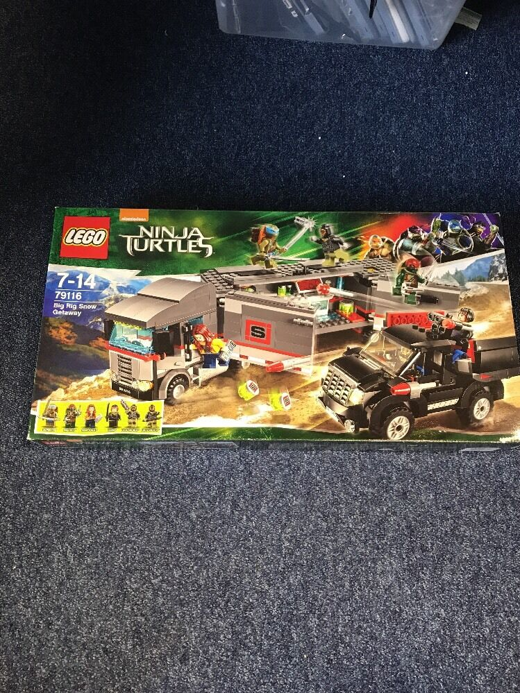 79116 LEGO Ninja Turtles Big Rig Snow Getaway Only One In The Sealed New