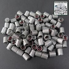 100 WHEEL TIRE VALVE STEM CAPS COVERS TPMS SENSOR Universal gray bulk lot VC-01
