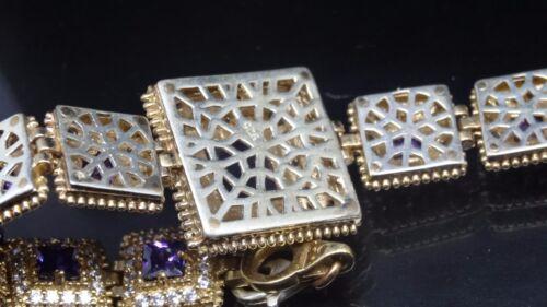Turkish Handmade 925 St Silver Authentic Amethyst Ladies Womans Good Bracelet