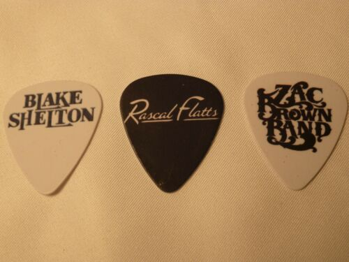 Country music bands  SINGLE SIDED PICTURE GUITAR PICKS  Set of 6