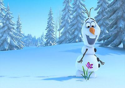 EnéRgico Stickers Autocollant Transp Poster A4 Disney Cartoon Olaf Snow Queen Reine Neig2 De Viaje