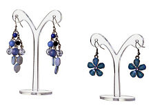 Dangle Earring Display Stand Jewelry Curved Design Display Set Of 2