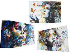 3x A0 SIZE CANVAS PRINTS - URBAN PRINCESS modern collection GRAFFITI STREET ART