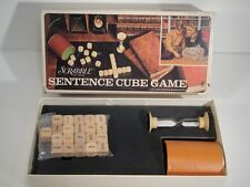 1971 Scrabble Brand Sentence Cube Word Game By Selchow & Righter  Complete
