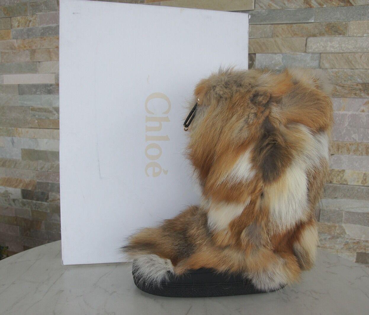 Chloé Chloe 41 42 43 fell Bobcat botas de invierno Zapatos nuevo ex PVP