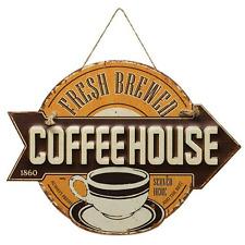 "Vintage Retro ""Premium Quality Coffee"" Tin Advertising Sign"