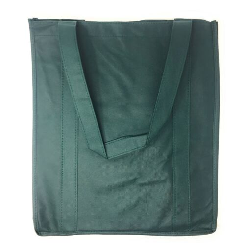 "1 Dozen Grocery Shopping Totes Bags Hook /& Loop Closure 14x16/"" Wholesale Bulk"