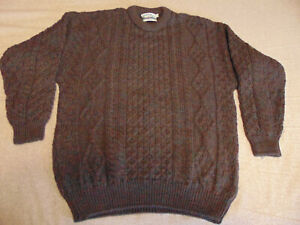 Irish-100-Wool-Sweater-Pullover-Arancrafts-Ireland-multi-colored-XL