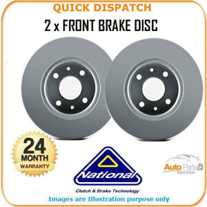2-X-FRONT-BRAKE-DISCS-FOR-HONDA-JAZZ-NBD1225