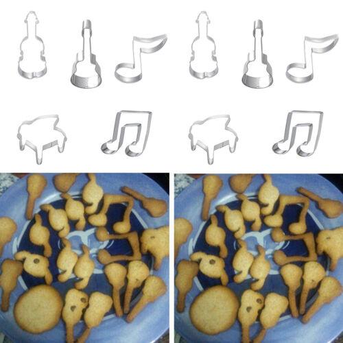 5pcs Note de Musique Gâteau Biscuit Coupe Décor Sucre Moule Cuisson Mou Cn /_ Fm