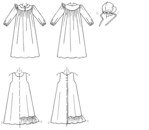 Free UK P/&P McCalls Girls Sewing Pattern 7231 Historical Pioneer Costum...