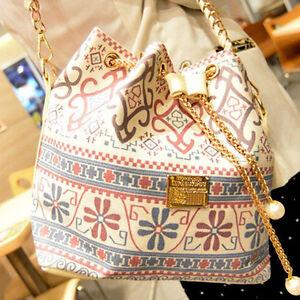 New Womens Trendy Handbags Linen Tote Bag Satchels Shoulder Bags ... 55a060070
