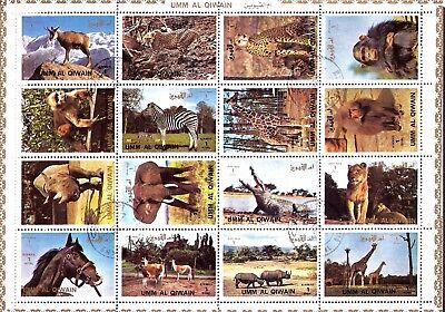 Lions,giraffe,monkey,zebra,crocodile,sp88 Yet Not Vulgar 100% Quality Umm El Kiwain Bloc 16t Animals