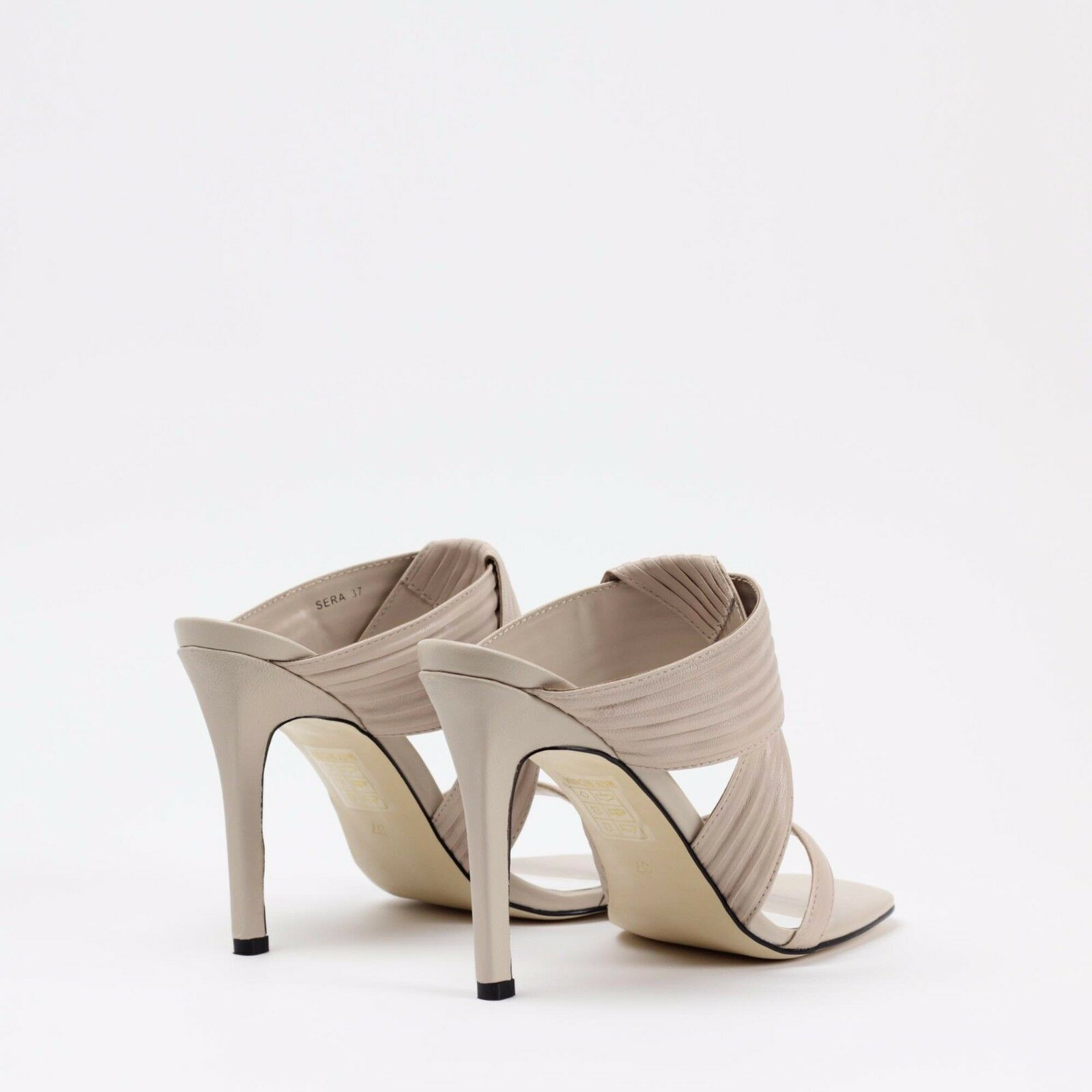 Senso Sera II Nude Beige Matt Kid Leder High High High Mule Sandale Summer Schuhe 594c4a