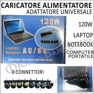 CARICATORE-ALIMENTATORE-UNIVERSALE-PER-PC-PORTATILE-LAPTOP-CON-PORTATA-DI-120W