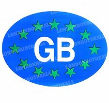 2 x Blue GB Oval Euro Stickers Decals For Car Trailer Van Caravan