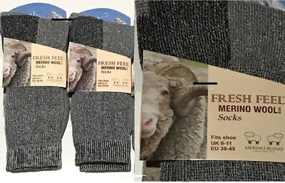 12 Pairs Men's Merino Wool Socks Outdoor Walking Work Boot Thermal Socks Uk 6-11 SchöN In Farbe