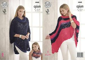 5dbf31f6b Image is loading King-Cole-4468-Knitting-Pattern-Ladies-Cape-Poncho-