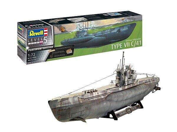 Revell 05163 - 1/72 Deutsches U-Boot Type VII C/41 - Platinum Edition - Neu