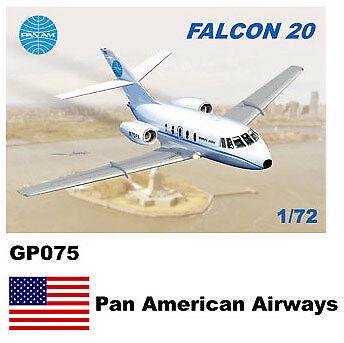 Mach 2 1 72 Dassault-Mystere Falcon 20 GP075