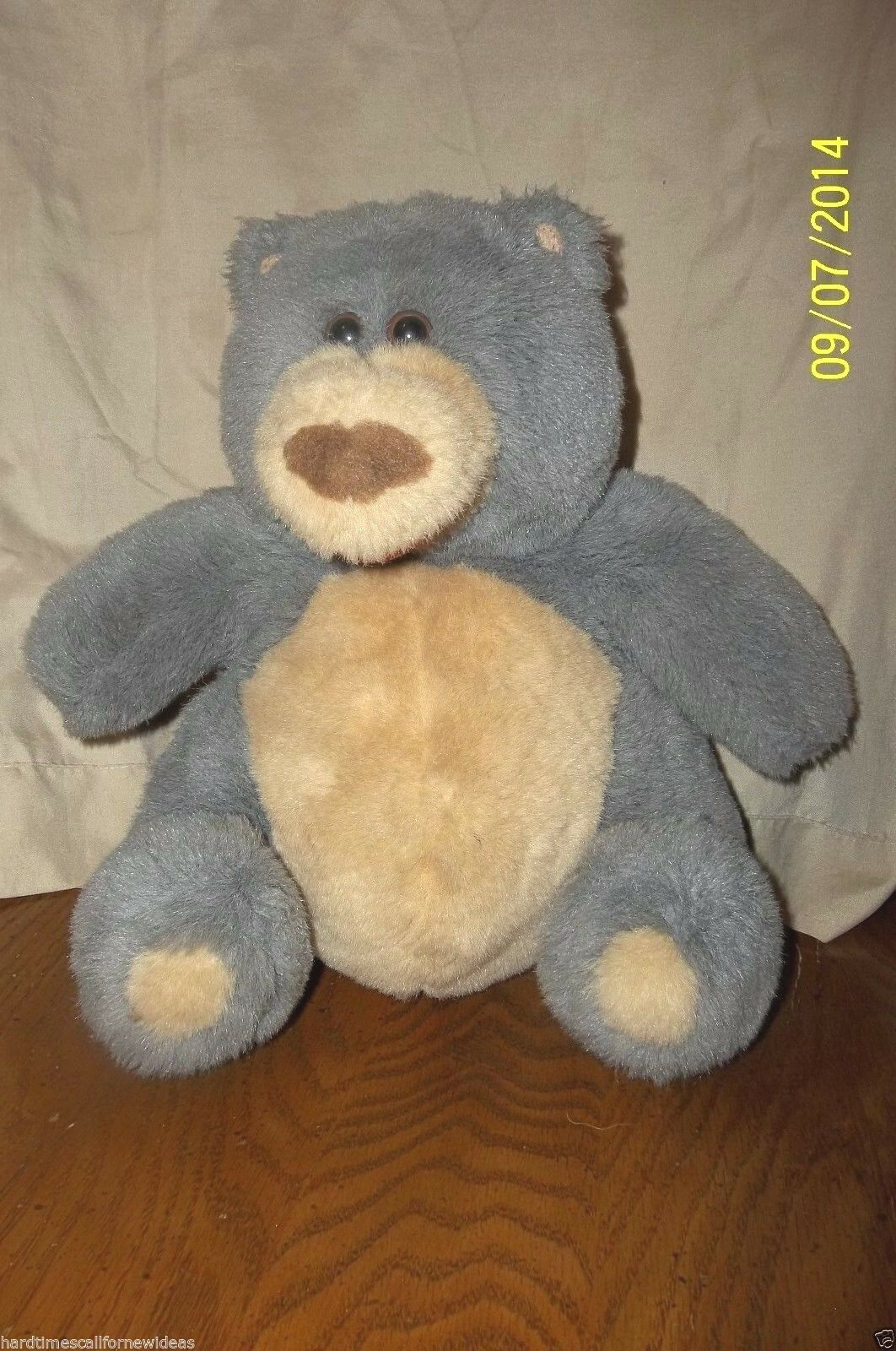 Simple Wishes Bear Plush Talking Sexy Voice Big Kiss Smooch Me Baby W Batteries