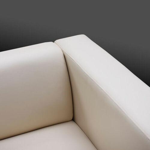 schwarz 2er Sofa Couch Loungesofa Lille Kunstleder