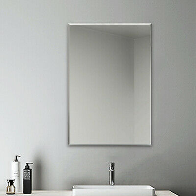 500x700 Frameless Bathroom Mirror Plain, How To Hang A Glass Mirror Without Frame