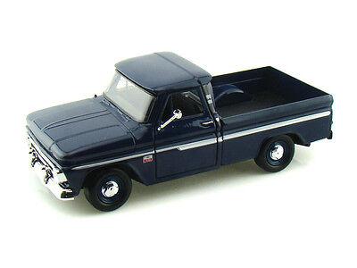 MotorMax 1966 Chevy C10 Fleetside Pickup truck diecast 1:24 model Blue M119