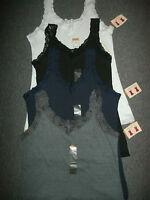 Northcrest Womens Plus 1x Tank Top White Gray Blue Black Scoop Or V-neck