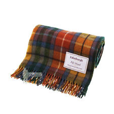 EDINBURGH - PURE WOOL SCOTTISH TARTAN RUG / BLANKET / THROW - BUCHANAN ANTIQUE