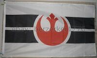 Star Wars Rebel Alliance White 3' X 5' Flag Banner - Usa Seller Shipper
