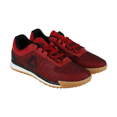 Reebok Jj Ii Low Mens Red Textile Low Top Lace Up Sneakers Shoes