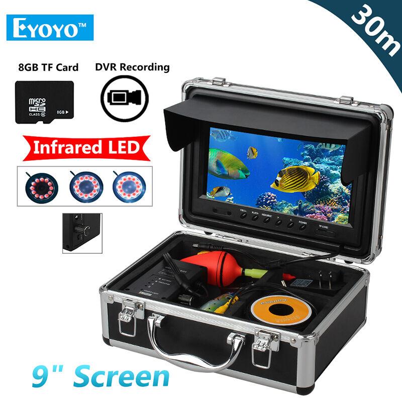 Eyoyo 9  30M 1000TVL pesca subacquea fotocamera Fish Finder 8GB DVR Recorder
