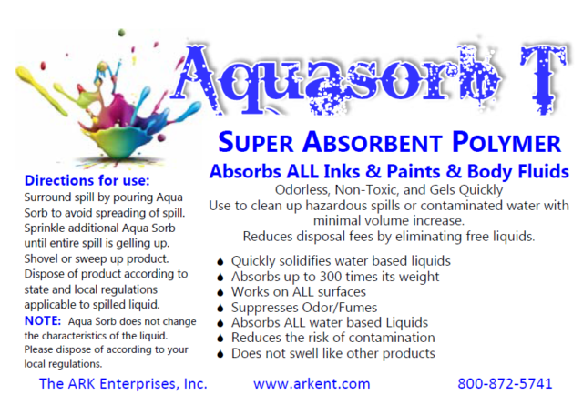50 LB Sodium Polyacrylate Polymer Absorbs 300x WT for Tattoo Shops