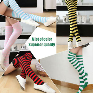 Fashion-Stockings-Ladies-Over-Knee-Socks-Japanese-Hot-Sold-Striped-High-Quality