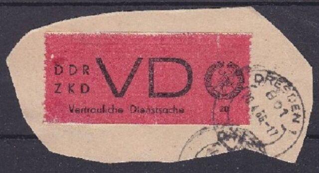 DDR Dienst Mi Nr. D 1 A TOP geprüft Weigelt BPP, gest. Dresden 1966 Briefstück