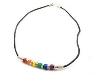 Lesbian Gay Pride LGBT Necklace Rainbow CZ Bottom Round Pendant Pride Shack