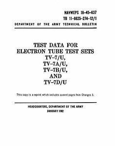How to Use USA TV-7D//U Tester TV-7 Ultimate Updated Tube Test manual Data