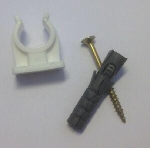 Rohrclips Einteilig Mit Schraube Und Dubel Grosse 14 15mm 10 Stuck