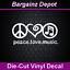 PEACE LOVE MUSIC. Vinyl Decal. Musician Hippie Heart Lover Car Van SUV Sticker