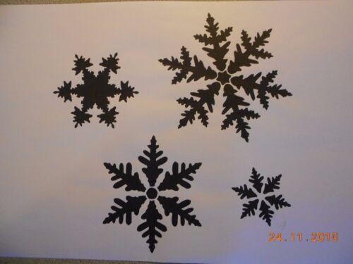 Schablone Schneeflocken8  auf A4