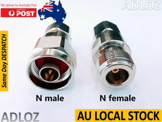 Quality N Male Female Crimp Plug Connector RG8 RG165 RG213 LMR400 No Soldering