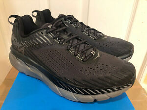 HOKA-ONE-ONE-MENS-CLIFTON-5-RUNNING-SHOE-ANTHRACITE-SHADOW-NEW-FREE-SHIP