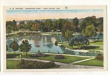 Reservoir Park FT FORT WAYNE IN Vintage Indiana Postcard